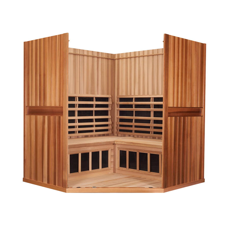Clearlight Sanctuary 4 — Four Person Full Spectrum Corner Sauna