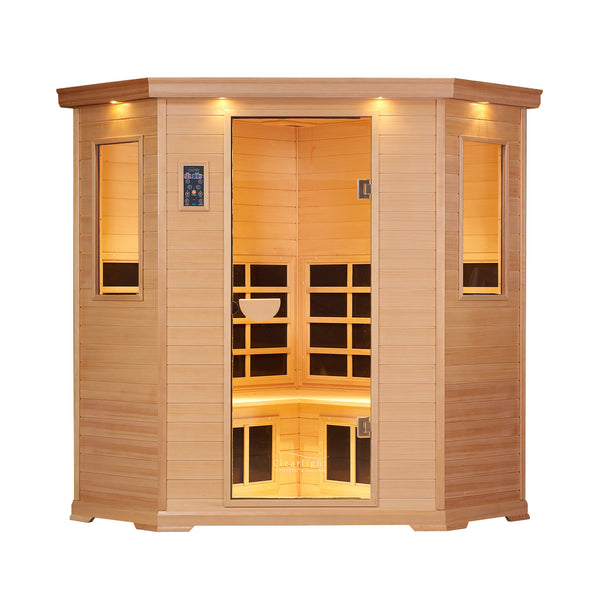 Clearlight Essential CE-4 — Four Person Far Infrared Corner Sauna