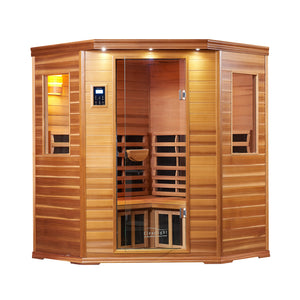 Clearlight Premiere IS-C — Four Person Far Infrared Corner Sauna