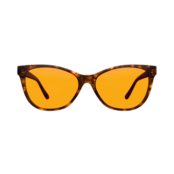 Cat Eye Night Swannies - Blue Light Blocking Glasses - Tortoise Shell Front