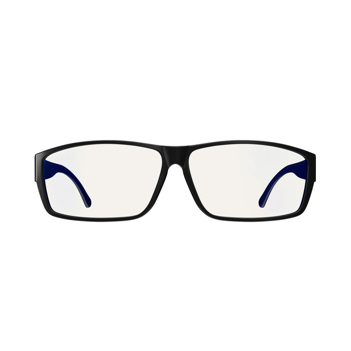 Fitover Day Swannies - Blue Light Blocking Glasses - Black Front