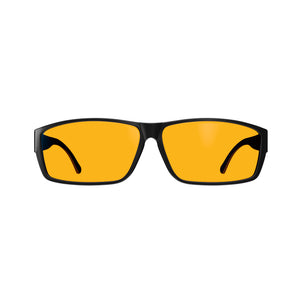 Fitover Night Swannies - Blue Light Blocking Glasses - Black Front