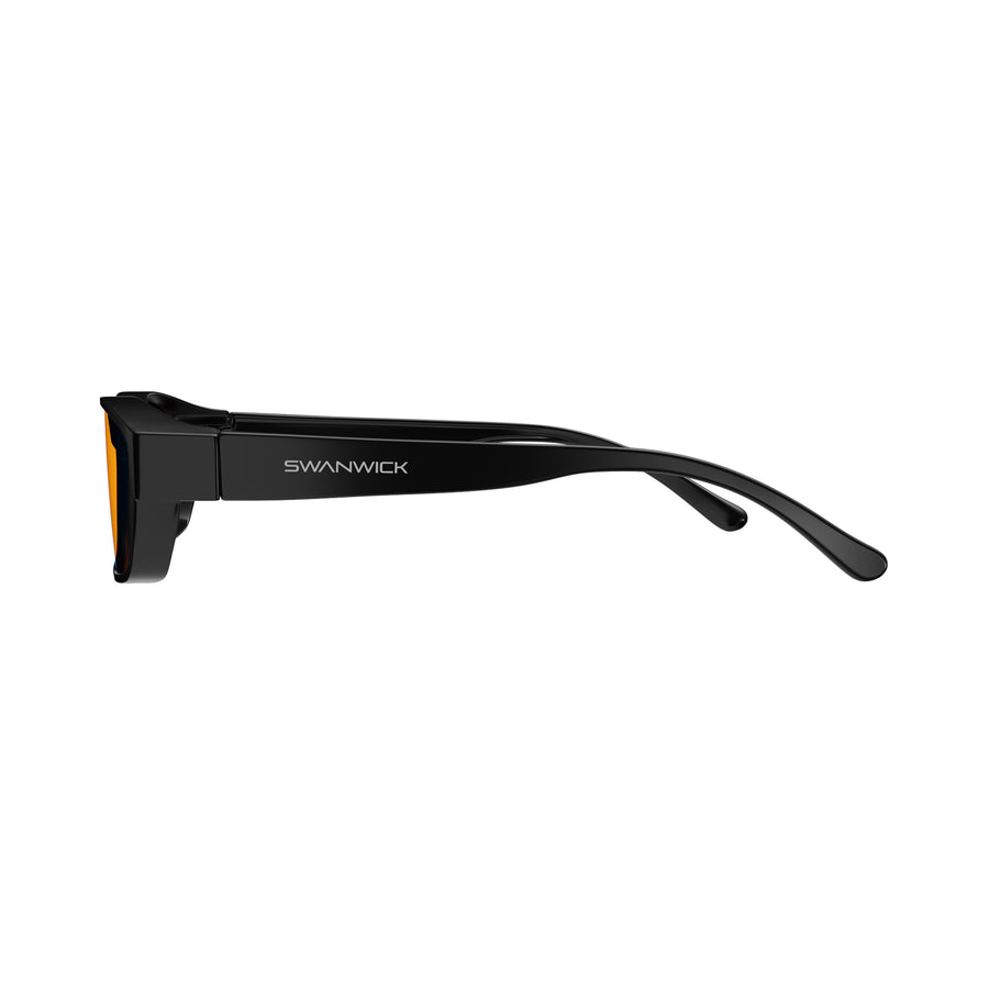 Fitover Night Swannies - Blue Light Blocking Glasses - Black Side
