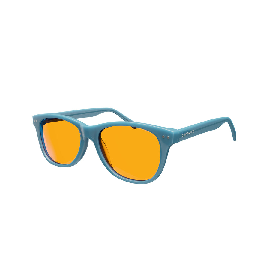 Kids Night Swannies - Blue Light Blocking Glasses - Blue 3Q