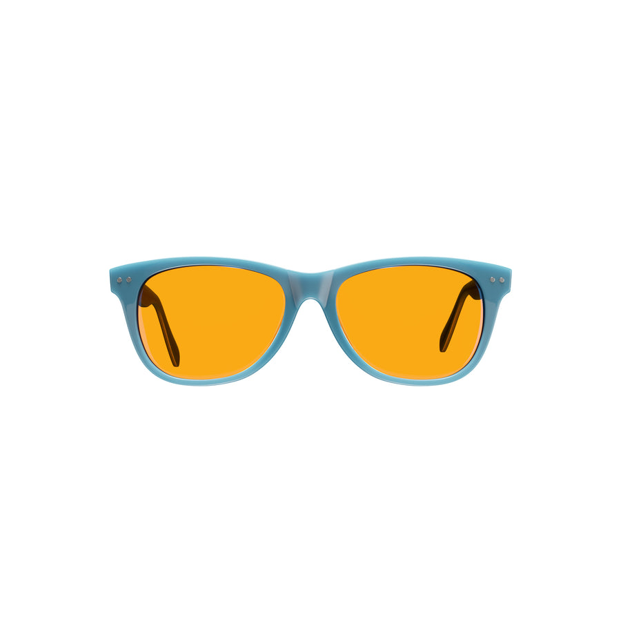 Kids Night Swannies - Blue Light Blocking Glasses - Blue Front
