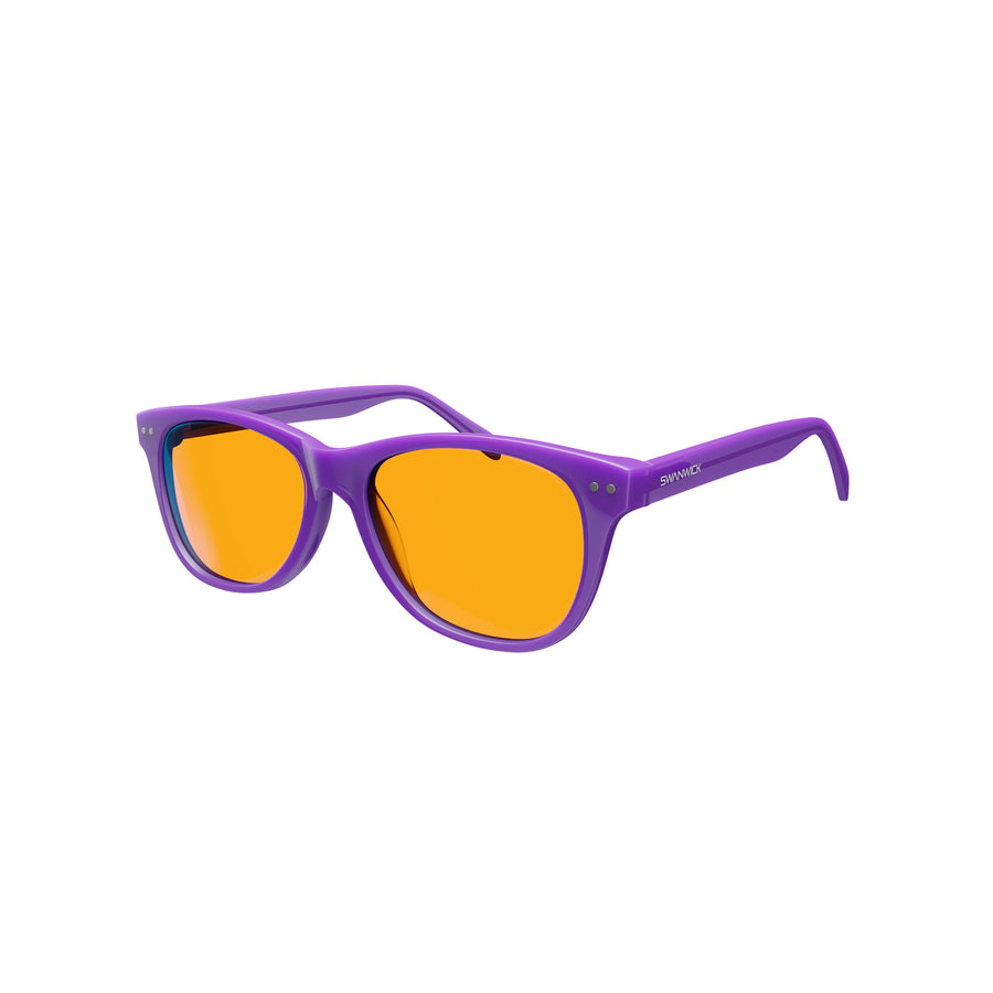 Kids Night Swannies - Blue Light Blocking Glasses - Purple 3Q