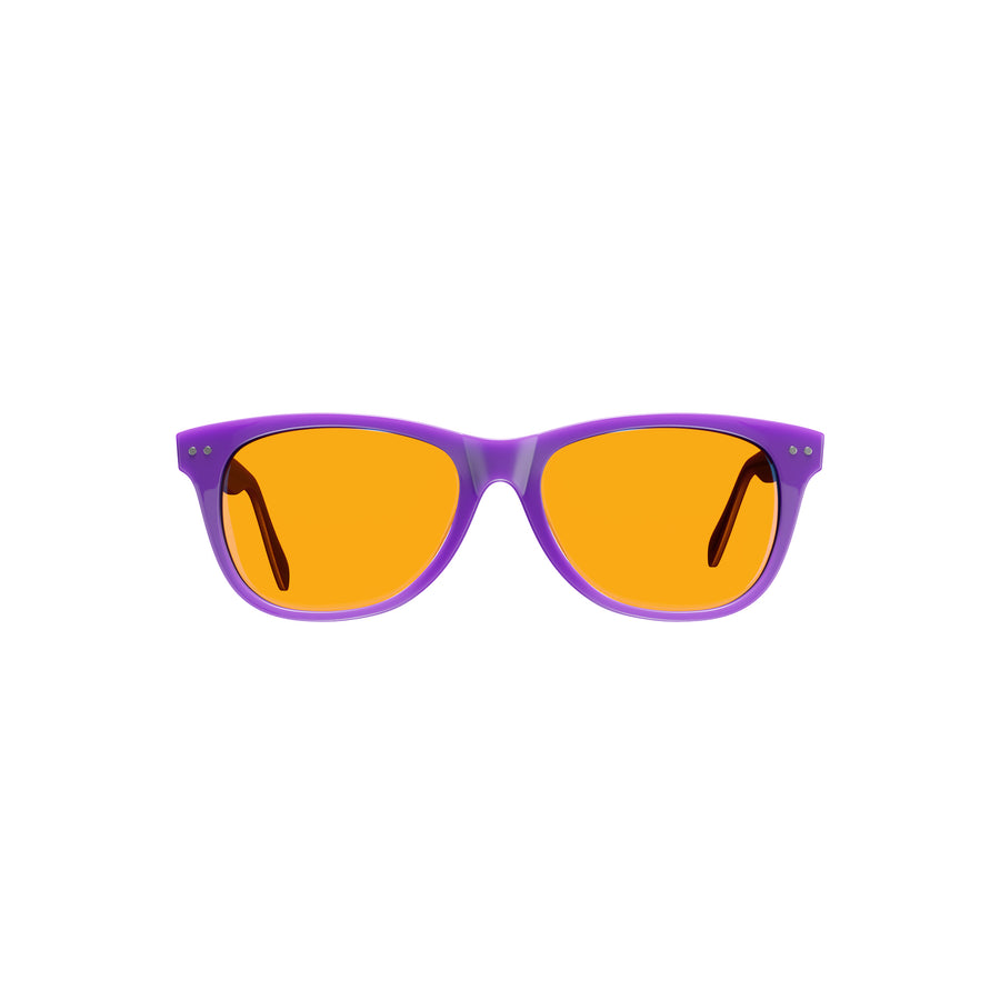 Kids Night Swannies - Blue Light Blocking Glasses - Purple Front