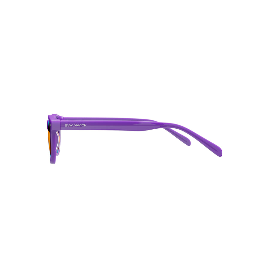 Kids Night Swannies - Blue Light Blocking Glasses - Purple Side