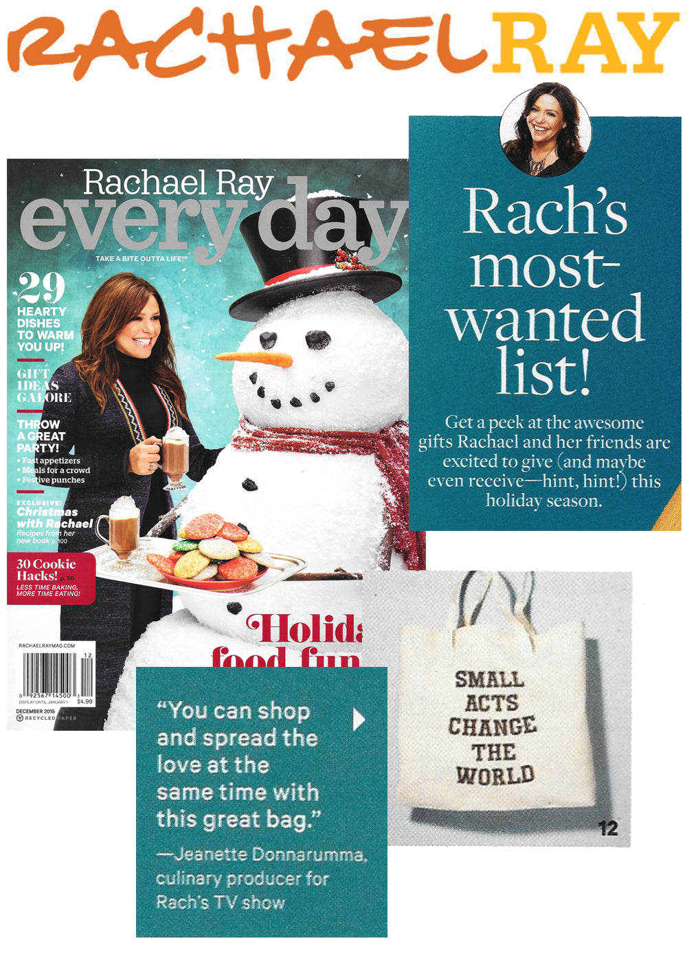 SuperLoveTees in Rachael Ray Magazine