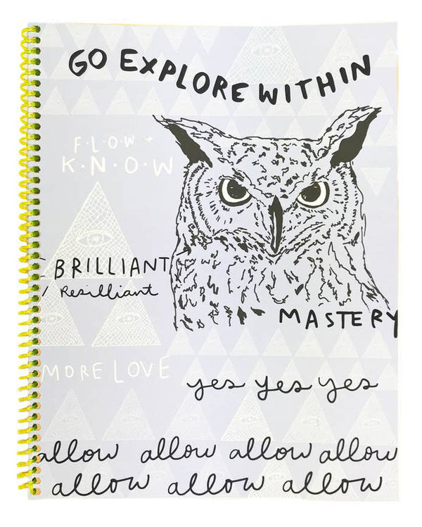 Go Explore Within Handmade Spiral Journal