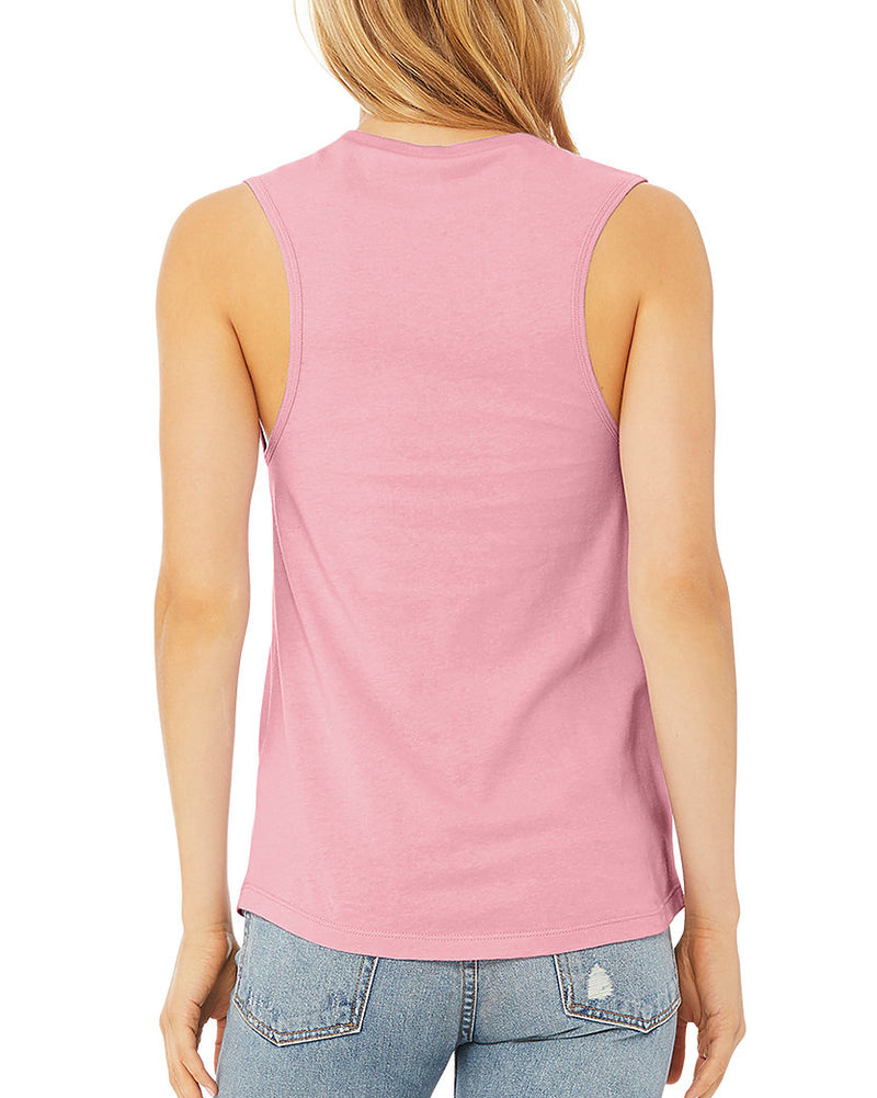 Travel Light....Be the Light  - Lilac Muscle Tee