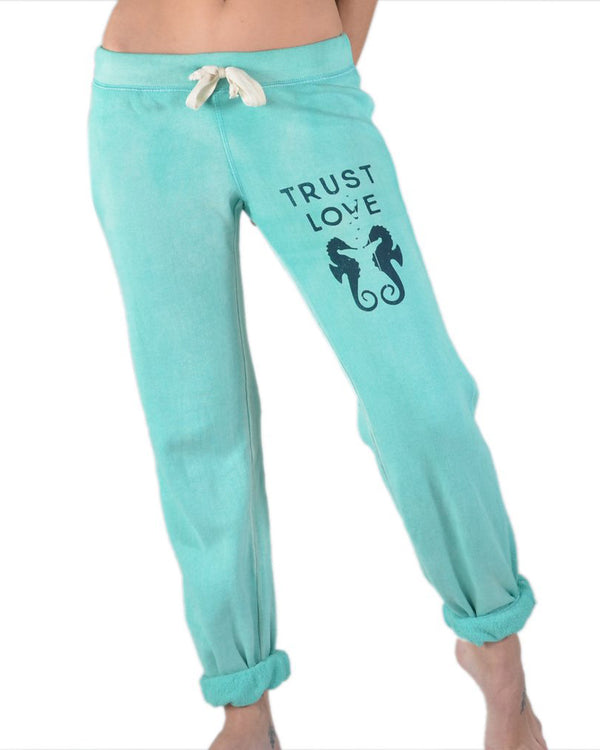 Trust Love   -   Seahorse Sand Washed Sweat Pants