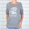 Love Breeds Love - Dancer Neck Fleece Sweatshirt