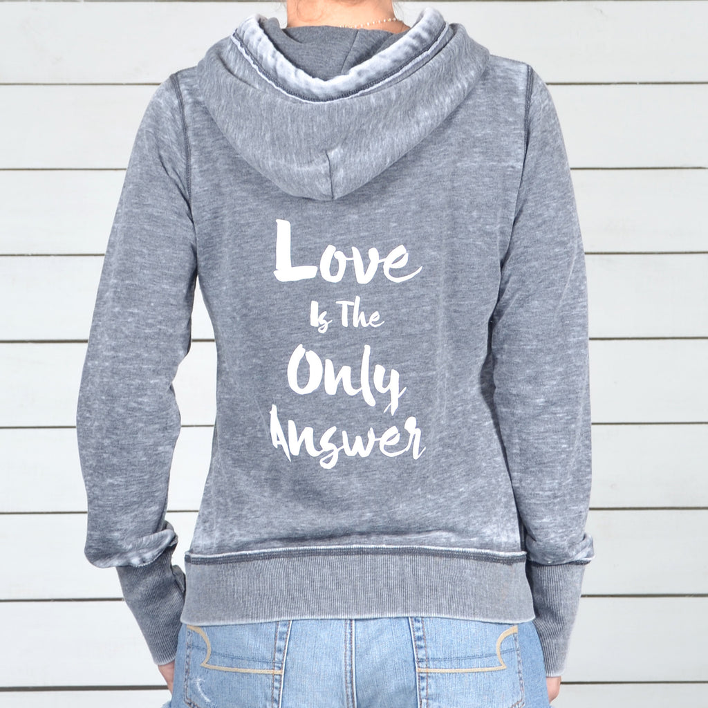 Love Is The Only Answer. - Fleece Zip Hoodie