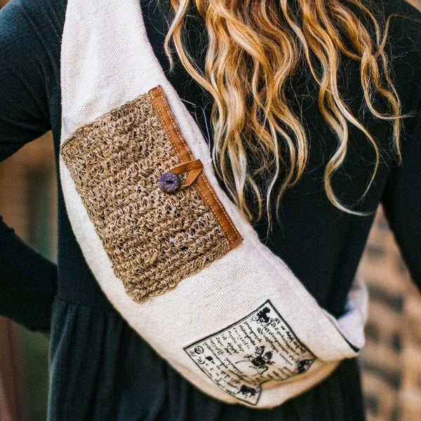 Compassion Prayer Flag Sling Bag