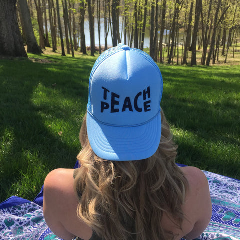 Teach Peace ||  Sky Blue Hat