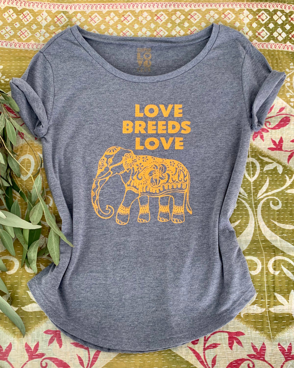 Love Breeds Love -  Faded Navy Crew Tee