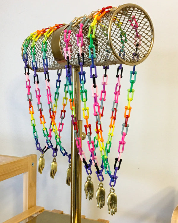 RAINBOW POP CHAIN NECKLACE WITH MUDRA
