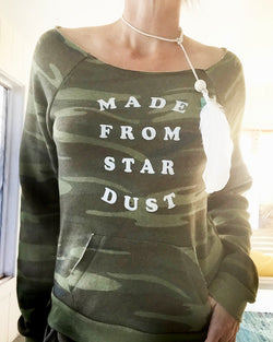 Made From Star Dust - Camo Dancer Fleece Sweatshirt