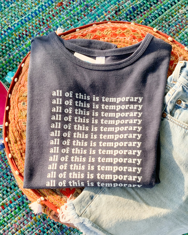 All of this is Temporary ~ Navy Knit Pullover