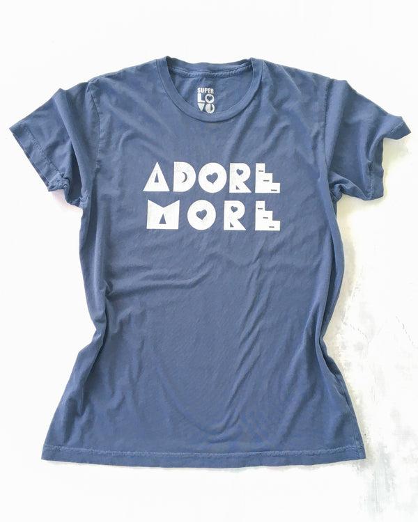 ADORE MORE - Lapis Blue Cotton Unisex Tee