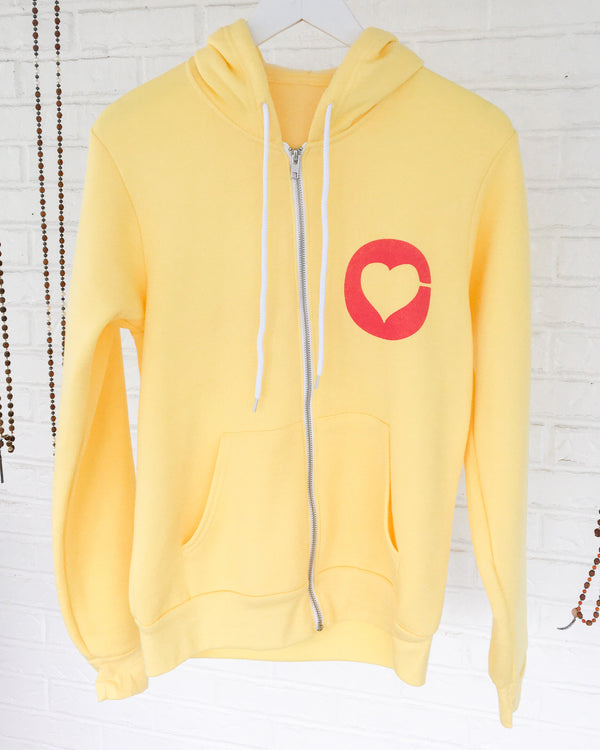 ADORE MORE - SUNNY YELLOW Unisex Fleece Hoodie