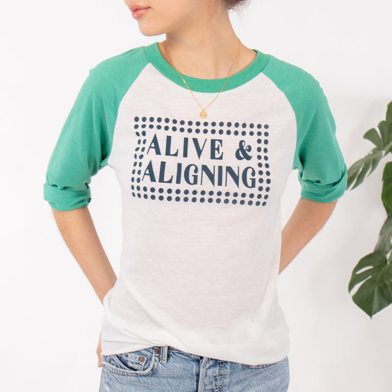 Alive and Aligning ~ Unisex Baseball Tee