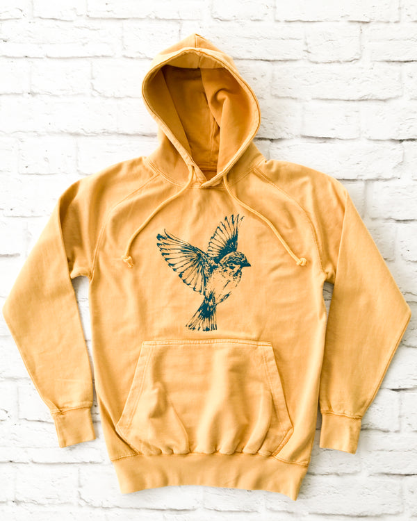 FREE BIRD - GOLDEN COTTON Unisex Hoodie