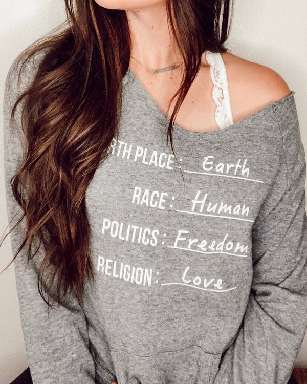 Citizen of Earth - Dancer Neck Fleece Sweatshirt