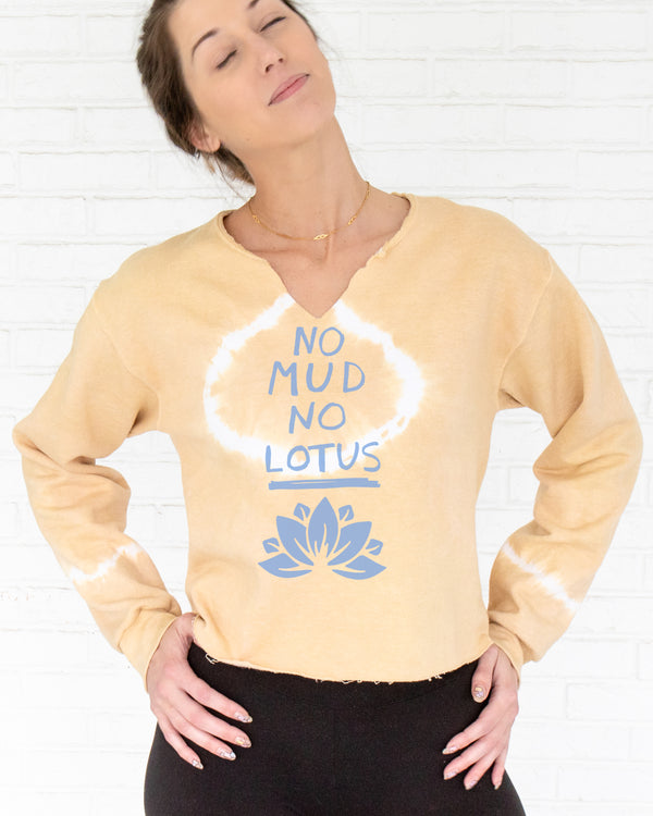No Mud No Lotus - Butterscotch Sweatshirt