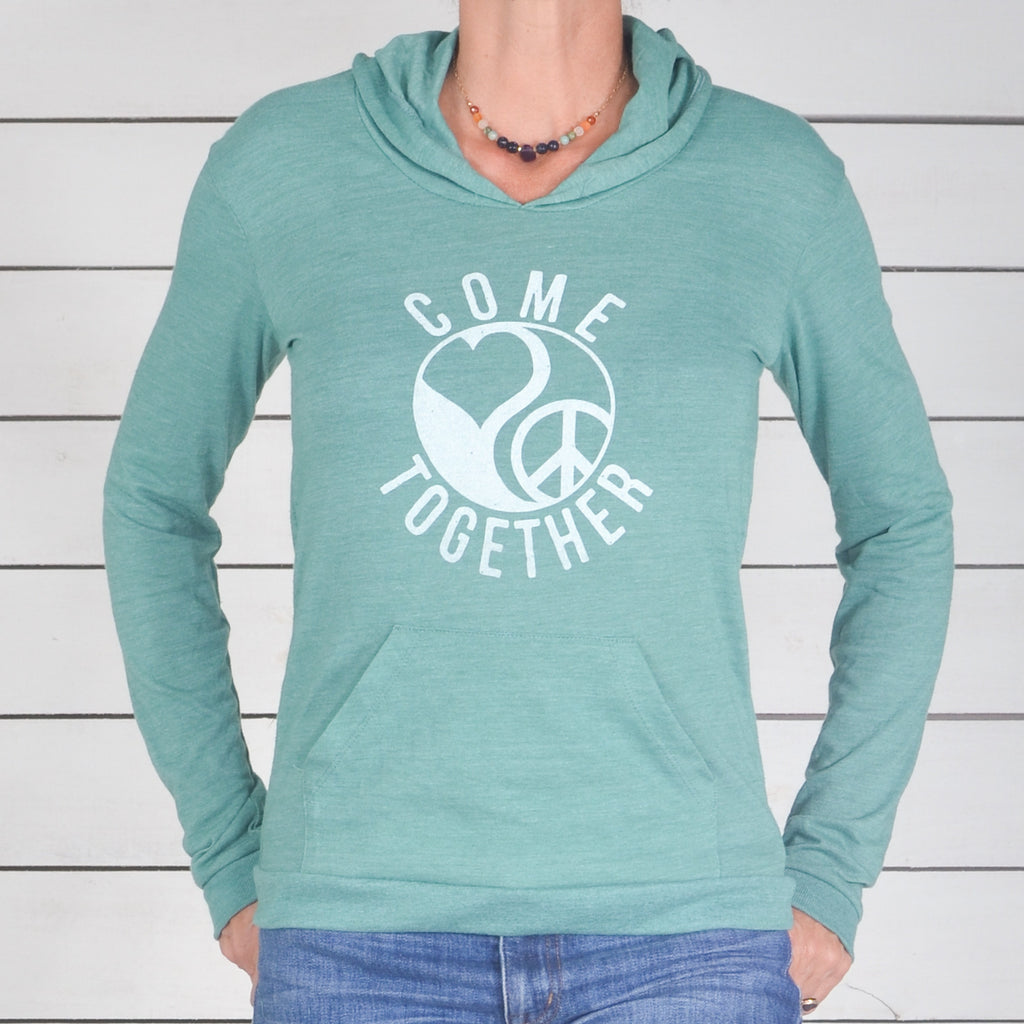 Come Together - Jade Lightweight Pullover Hoodie
