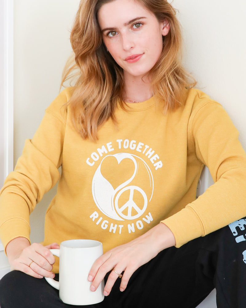 COME TOGETHER - Gold Unisex French Terry Sweatshirt