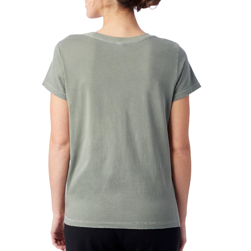 Made From Star Dust - Moss Green Cotton Crew