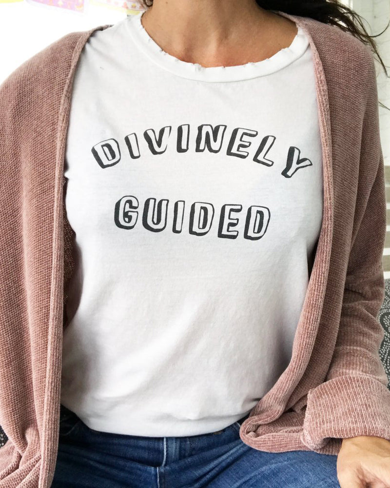 Divinely Guided -  Off-White 100% Cotton Crew