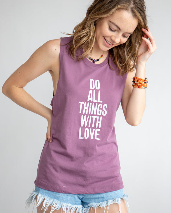 Do All Things with Love - Port Muscle Tee