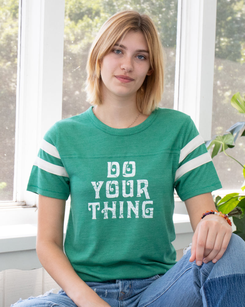 Do Your Thing ~  Grass Green Sporty Tee