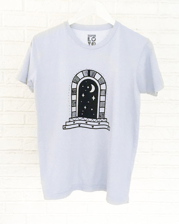 COSMIC PORTAL - HAZY BLUE Cotton Unisex Tee