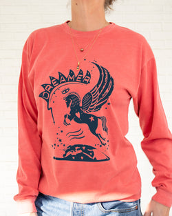 DREAMER - Guava Cotton Unisex Long Sleeve Tee