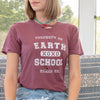 Earth School - Garnet Cotton Unisex Tee