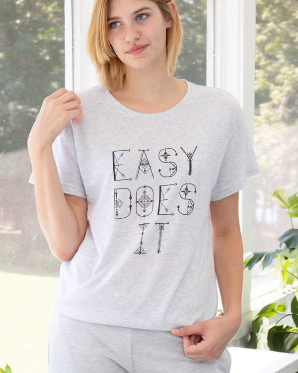 Easy Does It  ~  Soft and Long Skater Tee