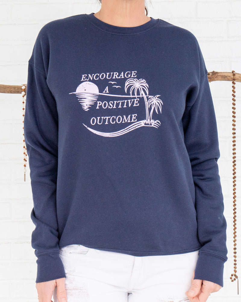 Encourage a Positive Outcome - Navy Unisex Sweatshirt