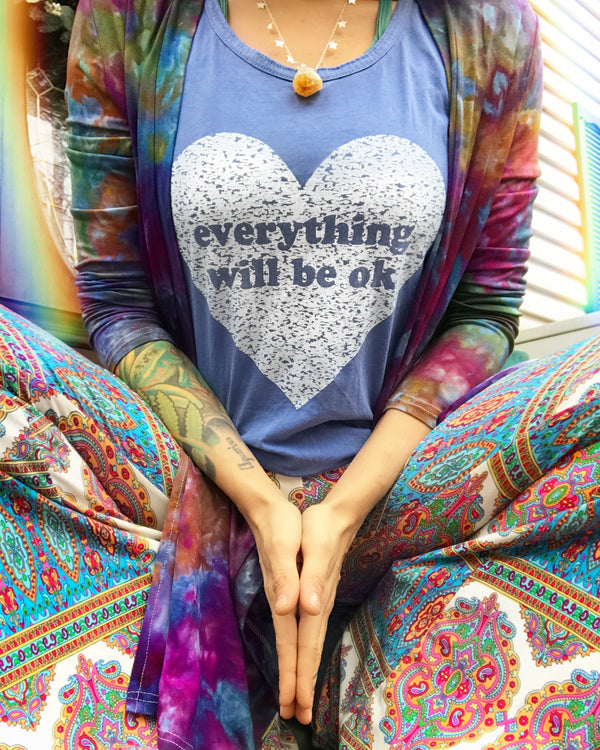 Everything Will Be OK - Periwinkle Unisex Cotton Tank