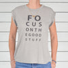 Focus On The Good Stuff -  Sand Rolled Cuff Muscle Tee