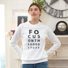 Focus on the Good Stuff - White Unisex Fleece Sweatshirt