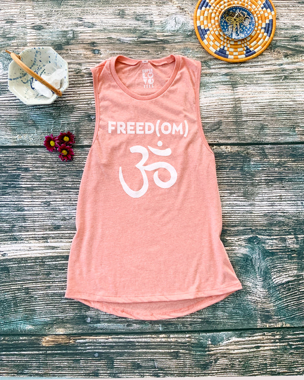 Freed(OM)  - Heather Sunset Muscle Tee