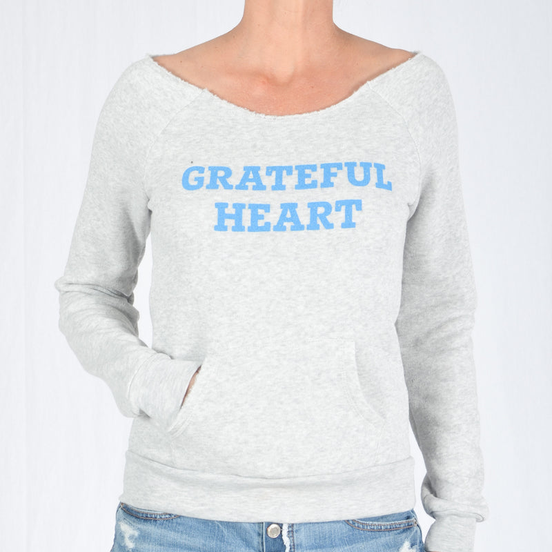 GRATEFUL HEART  -  Oatmeal Dancer Fleece Sweatshirt