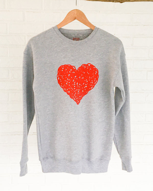 HEART - Heather Grey Unisex Sweatshirt