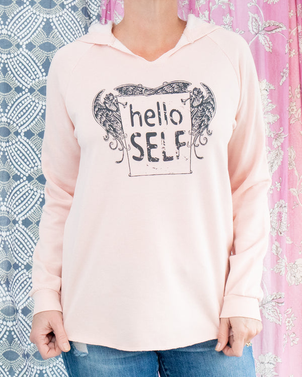 Hello Self - Pink Sunset Hoodie