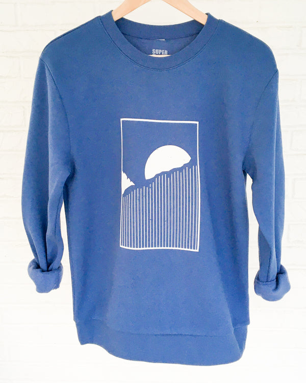 HORIZON - INDIGO UNISEX Fleece Sweatshirt