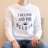 I Belong & You Belong - White Unisex Fleece Sweatshirt